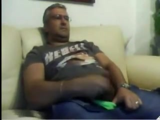 Super-sexy Spaniard Dad Bored And Stroking